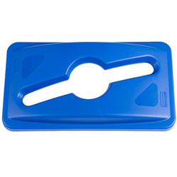 Rubbermaid® Slim Jim® Single Stream Recycling Top - Blue