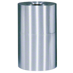Rubbermaid® Atrium® Open Top - 35 Gal., Satin Aluminum