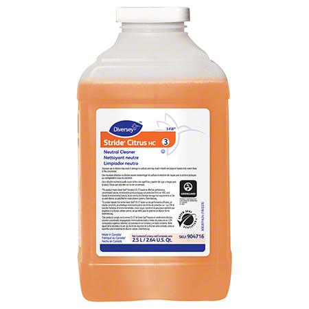 Diversey Stride 174 Citrus Neutral Cleaner 2 5 L J Fill