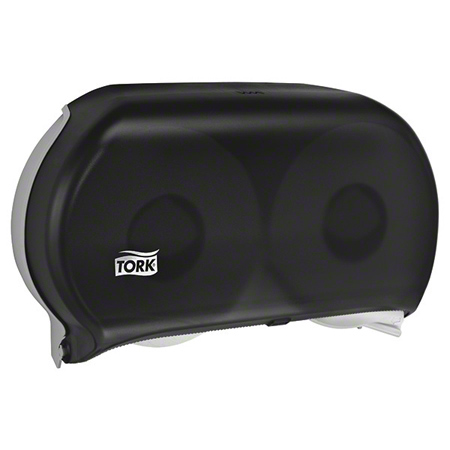 "Tork® 9"" Jumbo Twin Roll Bath Tissue Dispenser - Smoke"