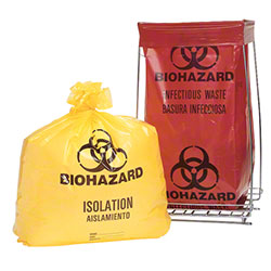 Fortune PolyCare Biohazard Bag - 24 x 23, 1.2 Gauge, Red