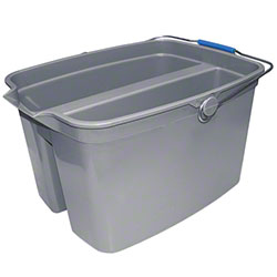 Update Two Compartment Utility Pail - 19 Qt., Gray