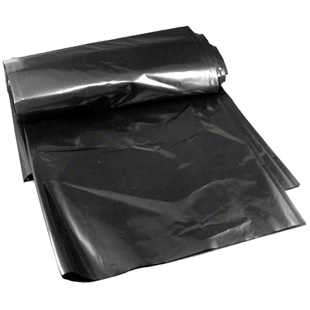 Poly Plastics Black LLDPE/LDPE Coreless - 38 x 58, 1.25 mil