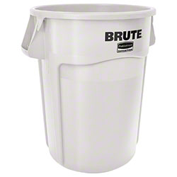 Rubbermaid® BRUTE® Vented Container - 44 Gal., White