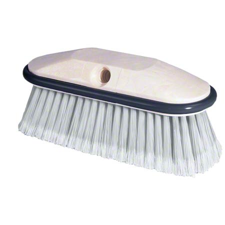 Flagged Vehicle Wash Brush - White Nylon