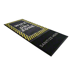 M + A Matting StepWell Sanitizing Mat w/Insert - Yellow Border