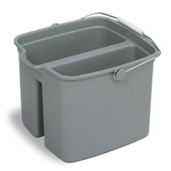 Continental Huskee Divided Plastic Pail - 16 Qt., Grey