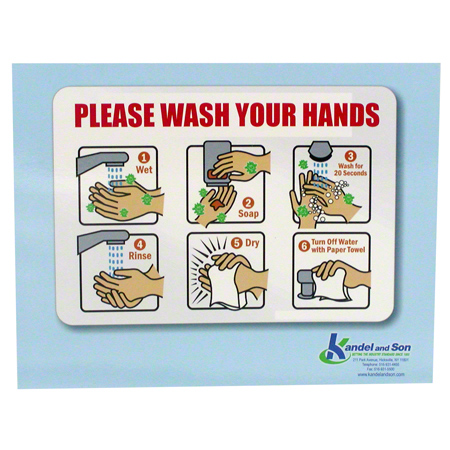 Wash Your Hands Laminated Sign