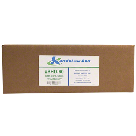 Extra Heavy Clear Recycle Bag - 23 x 10 x 39, .0015