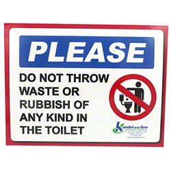 Please Do Not Throw Waste/Rubbish Laminated Sign