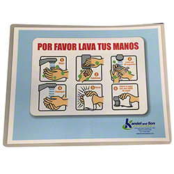 Wash Your Hands Laminated Sign-Spanish