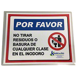 Please Do Not Throw Waste/Rubbish Laminated Sign-Spanish