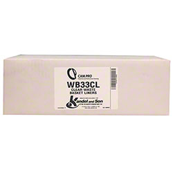 Cam Pro WB33CL Waste Basket Liner - 15 x 9 x 31, Clear