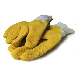 Yellow Dipped Gloves