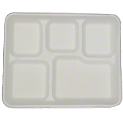 BIO BOARD Molded Fiber 5 Compartment Tray