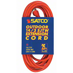 Satco® 14-3 SJTW Outdoor Medium Duty 25' Extension Cord