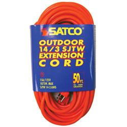 Satco® 14-3 SJTW Outdoor Medium Duty 50' Extension Cord