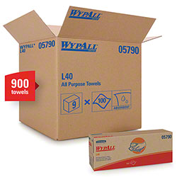 "WypAll® L40 Disposable Cleaning & Drying Towel - 16.4"" x 9.8"", White"