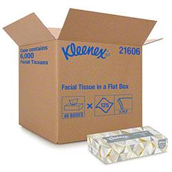 Kleenex® White Facial Tissue - 125 ct. Flat Box
