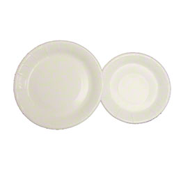 Smith-Lee Plastic Coated White Paper Plates