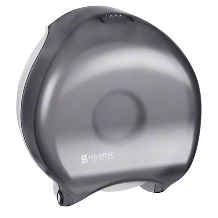 "San Jamar® Single 9"" Jumbo Bath Tissue Dispenser - Black"
