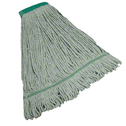 "Tuway™ Blended Looped End Wet Mop - 32 oz., 5"", Green"
