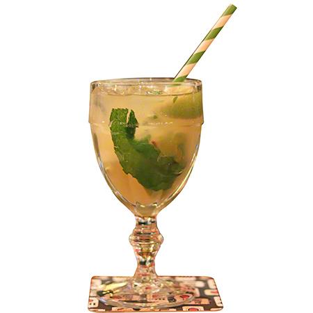 "Aardvark® Unwrapped Jumbo Straw - 7.75"", Green Striped"