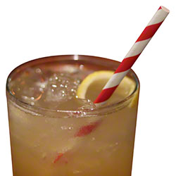 "Aardvark® Unwrapped Jumbo Paper Straw - 7.75"", Red Striped"