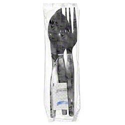Choice™ 6-in-1 Med.-Heavy Fork/Knife/Spoon/Nap/S&P - Black