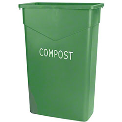 Carlisle Trimline™ Rectangle Compost Waste Container