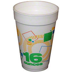 Convermex® Celebrate Design Foam Cup - 16 oz.