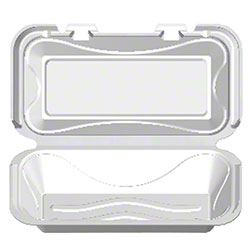 Darnel White Hinged Lid Foam Container - F-1, 1 Cmpt.