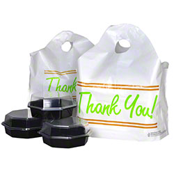 "LK® Printed ""Thank You"" Take Out Bag w/Wave Top Handle"