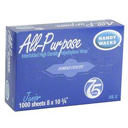 "Handy Wacks Polyethylene All Purpose Wrap - 15"" x 10 3/4"""