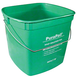 "Impact® 6 Qt. Green ""Cleaning"" Square Utility Pail"