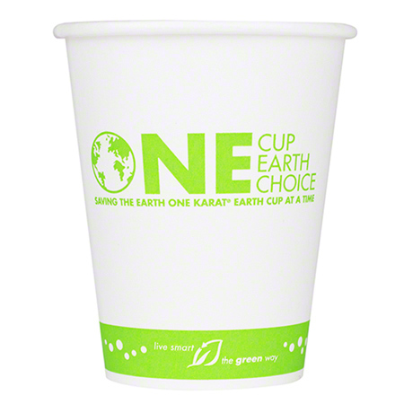 Karat® Eco-Friendly Stock Print Paper Hot Cup - 12 oz.