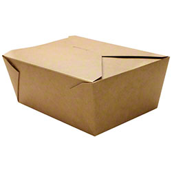Karat® Kraft 110 oz. Fold-To-Go Box - #4