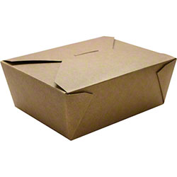 Karat® Kraft 48 oz. Fold-To-Go Box - #8
