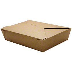 Karat® Kraft 54 oz. Fold-To-Go Box - #2