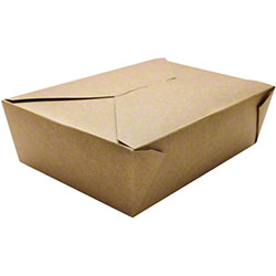 Karat® Kraft 76 oz. Fold-To-Go Box - #3