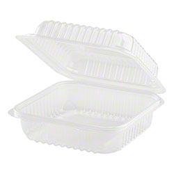 """Karat® Hinged 1 Compartment PP Container - 7"""" x 7"""""""
