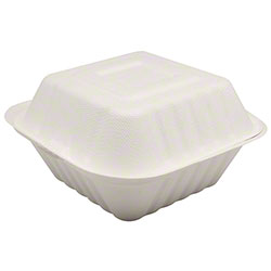 "Karat® Compostable Bagasse Container - 6"" x 6"""