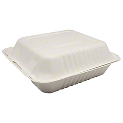 "Karat® Compostable Bagasse Container - 9"" x 9"""