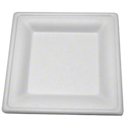 "PrimeWare® Diamond Collection Square Plate - 6.25"" x 6.25"""