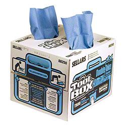 Sellars® Tool Box® T800 WaterWeave® Blue Double-Take® Wiper - 140 ct. Box