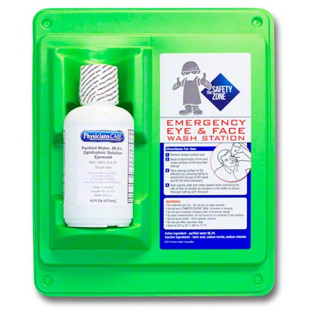 Safety Zone Single Bottle Eye Flush Station