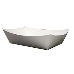 SQP White Food Tray - 2 lb.