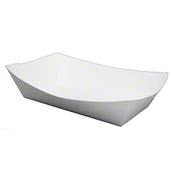 SQP White Food Tray - 5 lb.