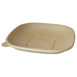 World Centric Unbleached Plant Fiber Square Bowl - 24 oz.