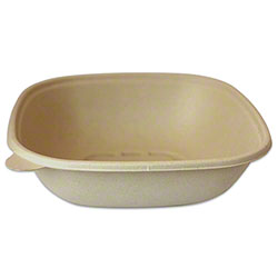 World Centric Unbleached Plant Fiber Square Bowl - 48 oz.